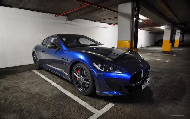 Фото обои синий, Maserati, суперкар, роскошь, GranTurismo, мазерати