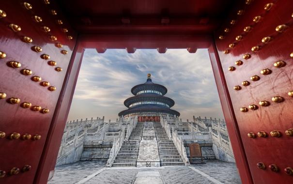 Фото обои китай, храм, восток, temple of heaven