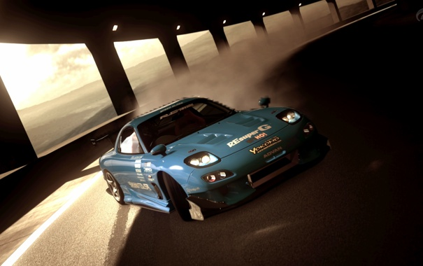 Фото обои Mazda, Playstation, RX-7, PS3, Grand Turismo 5, FD3S, Amemiya