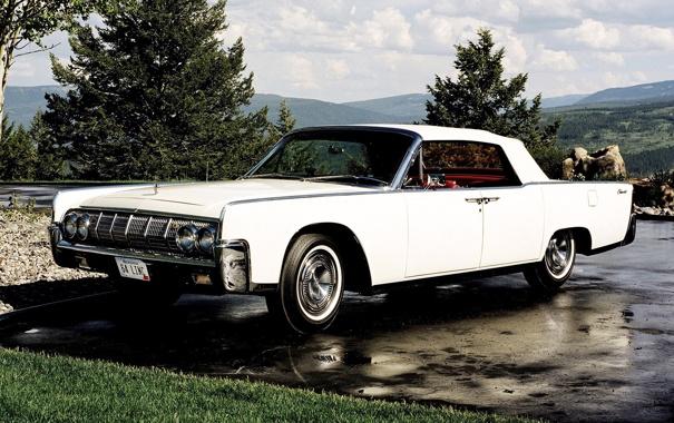 Фото обои Lincoln, блеск, Continental, белая, хром, Convertible