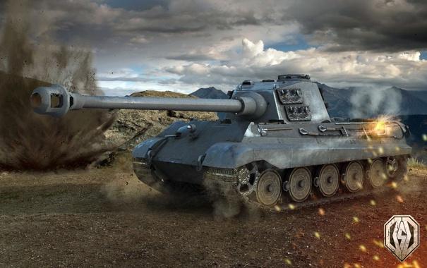 Фото обои танк, танки, WoT, Мир танков, Tiger II, tank, World of Tanks