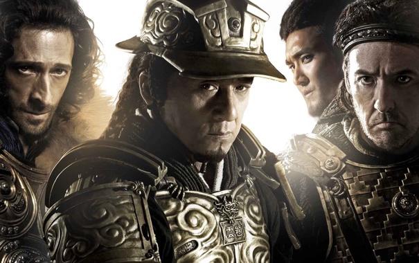 Фото обои доспехи, шлем, воины, постер, Джеки Чан, Jackie Chan, Adrien Brody