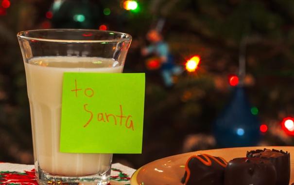 Фото обои макро, праздник, молоко, записка