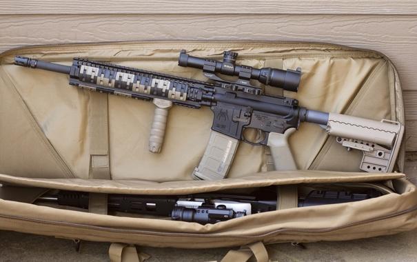 Фото обои оружие, штурмовая винтовка, magpul