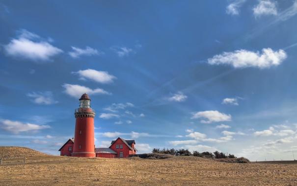 Фото обои Ferring, Denmark, Midtjylland, Bovbjerg Lighthouse