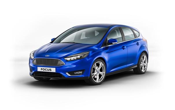Фото обои синий, фон, Ford, Focus, 2014, форд. фокус