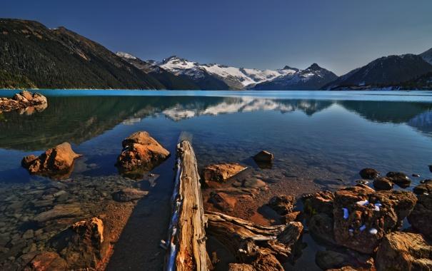 Фото обои горы, озеро, DecayRate