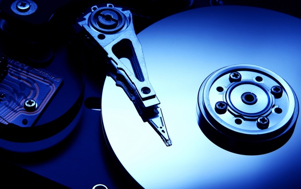 Фото обои винт, жесткий диск