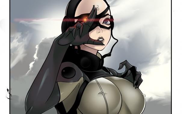 Фото обои грудь, девушка, арт, Metal Gear, sniper, konami, mgs