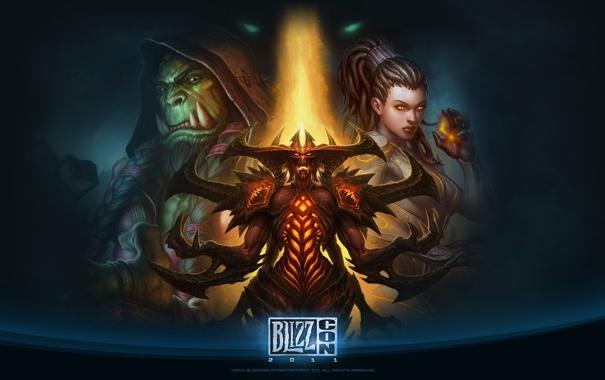 Фото обои дьявол, близзард, blizzard, орк, wow, world of warcraft, diablo 3