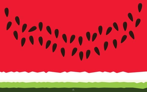 Фото обои красный, зеленый, арбуз