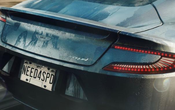 Фото обои машина, попа, огни, Aston Martin, гонка, Need for Speed Rivals