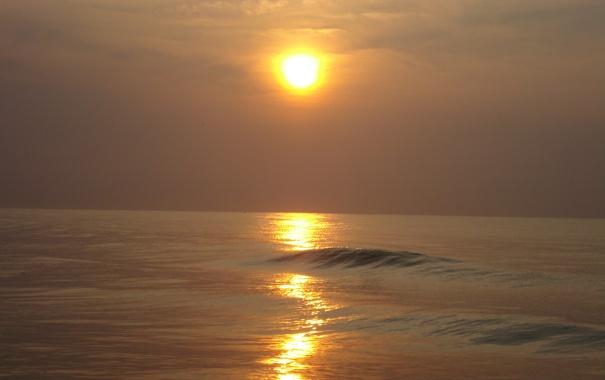 Фото обои восход, океан, дымка, южная королина