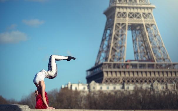 Фото обои гимнастка, грация, Quincy Azzario