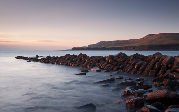 Фото обои море, небо, вода, горы, камни, океан, берег