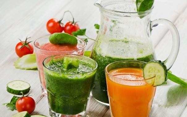 Фото обои зелень, овощи, помидоры, огурцы, tomatoes, vegetables, greens