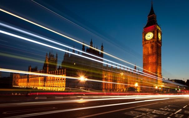 Фото обои ночь, англия, лондон, london, night, england, Big ben