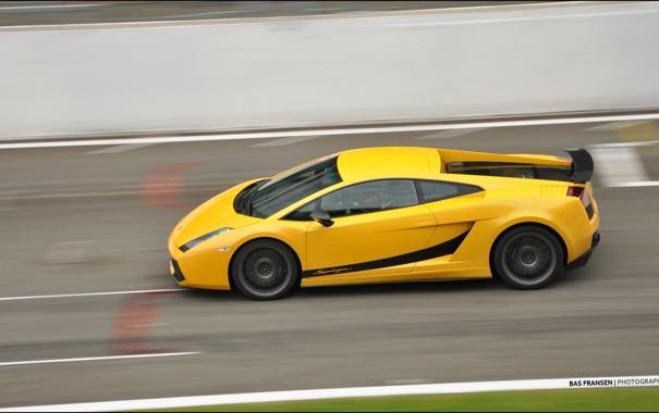 Фото обои скорость, Lamborghini, Superleggera, Gallardo