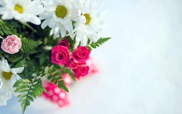 Фото обои цветы, фон, букет