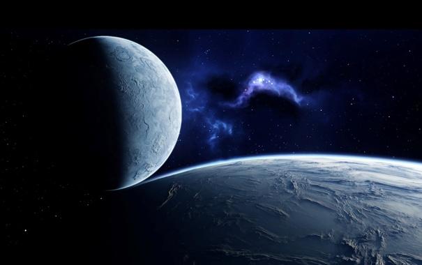 Фото обои космос, звезды, туманность, планеты, галактика, space, созвездия