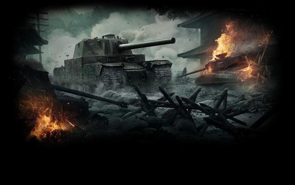 Фото обои Обновление 9.10, World of Tanks, Wargaming Net, Мир Танков, Тяжёлый Танк, WoT, Type 5 Heavy