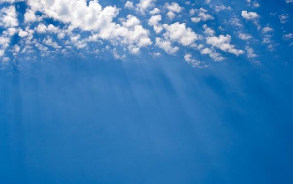 Фото обои небо, облака, лучи солнца