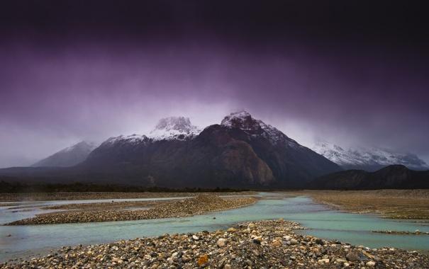 Фото обои река, гора, Природа