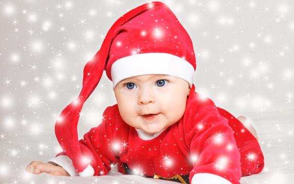 Фото обои праздник, Новый Год, Рождество, Christmas, New Year, child, baby