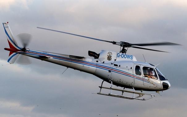 Фото обои небо, облака, вертолёт, многоцелевой, французский, AS350 Экьюрель urocopter AS350 Écureuil, Еврокоптер