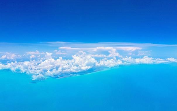 Фото обои облака, острова, небо, море, Багамы