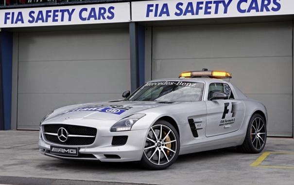 Фото обои машина, Mercedes-Benz, мерс, AMG, SLS, Safety Car, автомобиль безопасности