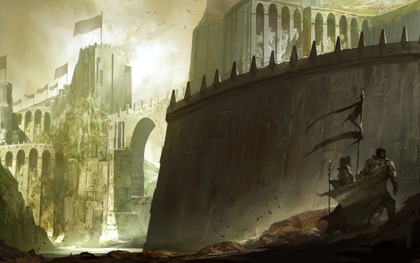 Фото обои камни, стены, Замок
