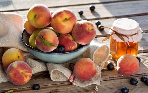 Фото обои Мед, Фрукты, Sunny peaches, Honey, Солнечные персики, Fruit