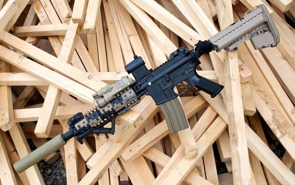 Фото обои оружие, винтовка, штурмовая, полуавтоматическая