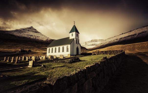 Фото обои пейзаж, Sunrise, Faroe Islands
