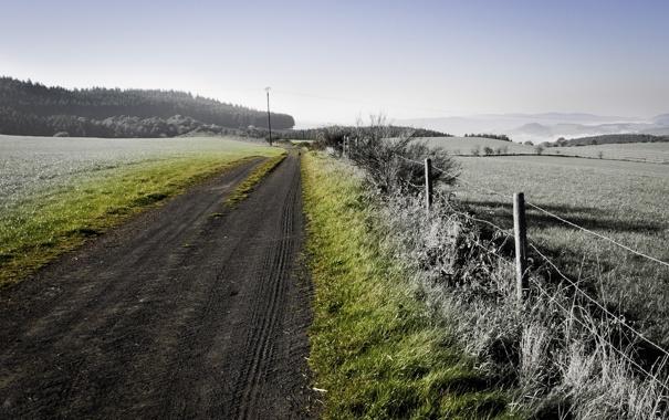 Фото обои дорога, обои, пейзажи, дороги, фотографии, заборы