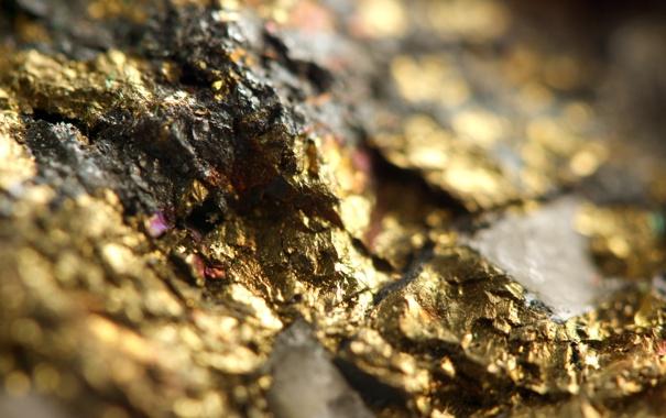 Фото обои metal, gold, pattern, rocks, mineral