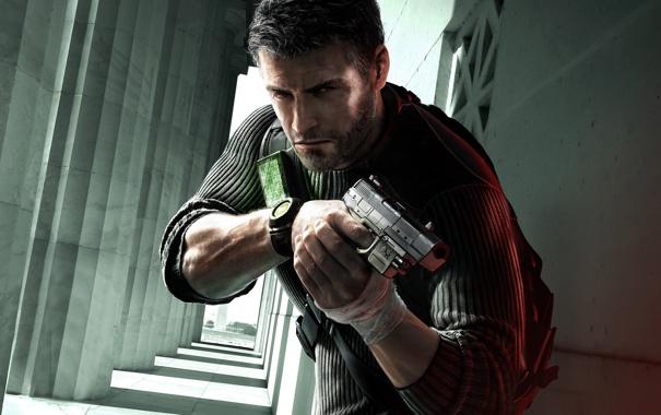 Фото обои оружие, Игра, арт, мужчина, Splinter Cell, Tom Clancy Splinter Cell