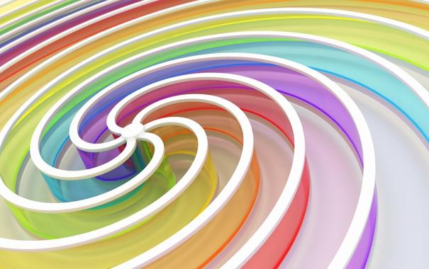 Фото обои полосы, цветные, спираль