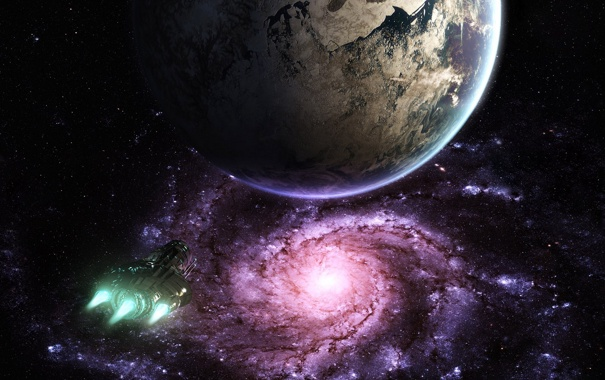 Фото обои космос, будущее, фантастика, планета, звёзды, future, space