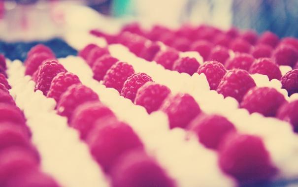 Фото обои ягода, обои, ряд, фон, еда, малина, макро