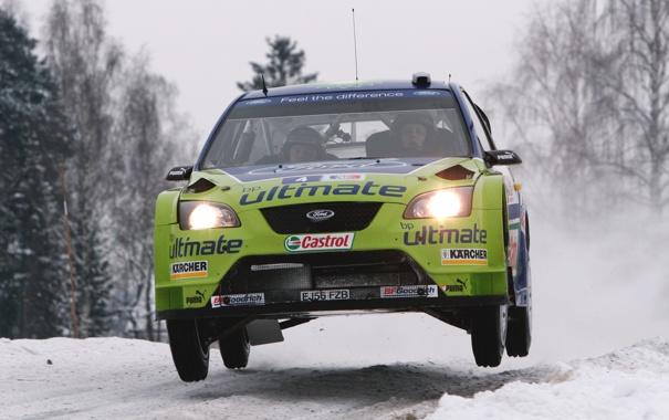 Фото обои Ford, Зима, Авто, Снег, Спорт, Машина, Форд