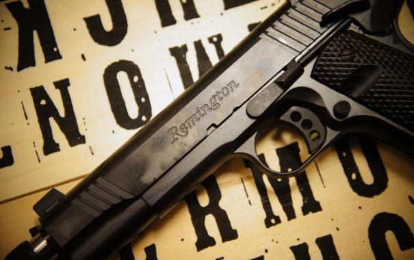 Фото обои пистолет, оружие, 1911, самозарядный, Remington R1