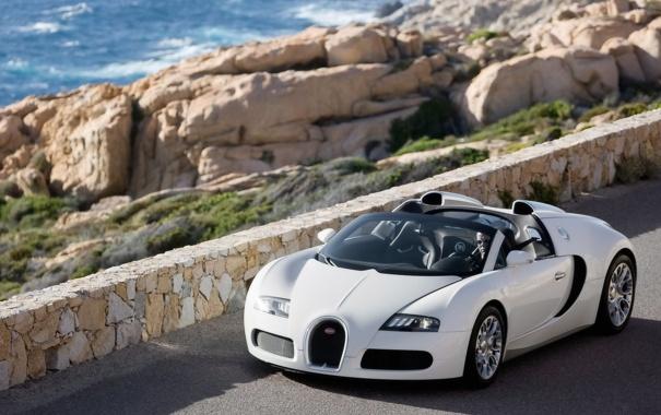 Фото обои дорога, горы, Bugatti_Veyron_cabrio