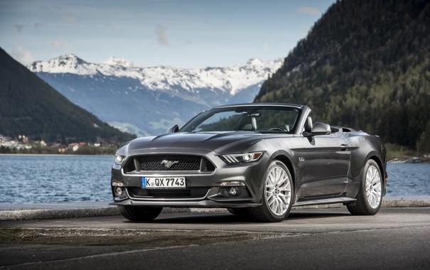 Фото обои Mustang, Ford, мустанг, кабриолет, форд, Convertible, 2015