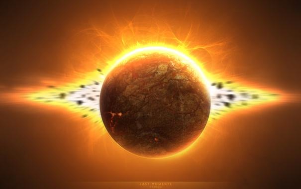 Фото обои взрыв, планета, Last Moments