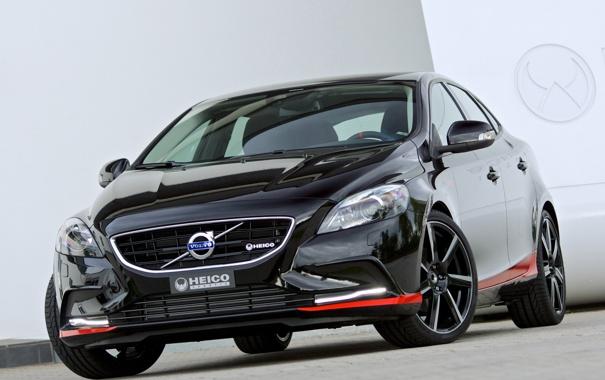 Фото обои машина, Volvo, передок, вольво, Pirelli, V40, Heico Sportiv