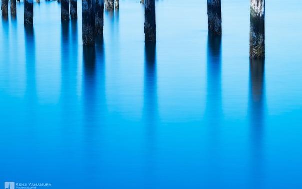 Фото обои поверхность, озеро, отражение, photographer, сваи, Kenji Yamamura