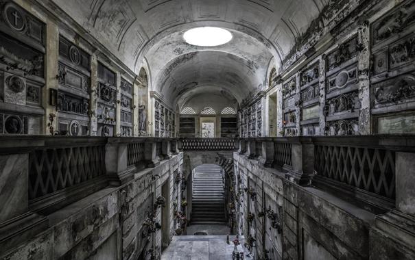 Фото обои фон, архитектура, Кладбище