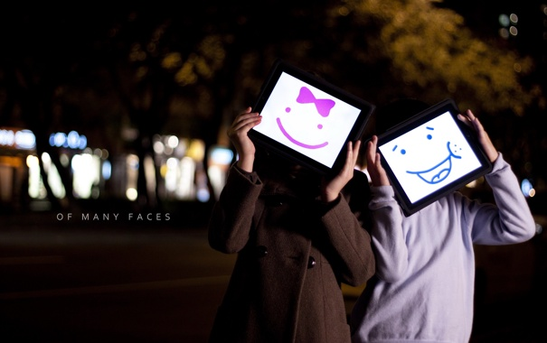 Фото обои город, настроение, маски